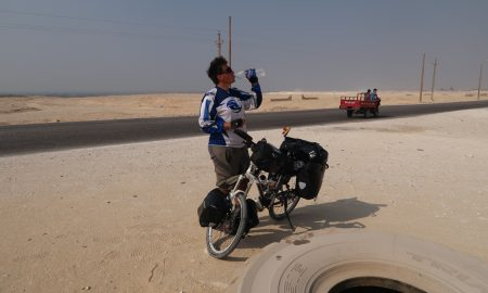 Cycling in Egypt from Cairo to Beni Souef.