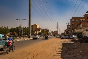 Street 60 in Khartoum city Sudan.