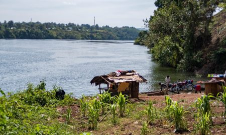 Nile source in Uganda in Jinjia city.