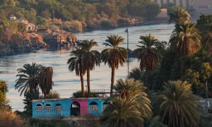 Nile view at Aswan near the first cataracts.