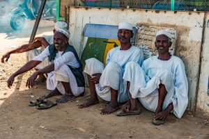 People in Atbara Sudan.