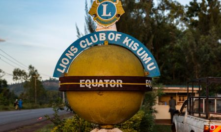 Equator sign in Maselo Kenya.