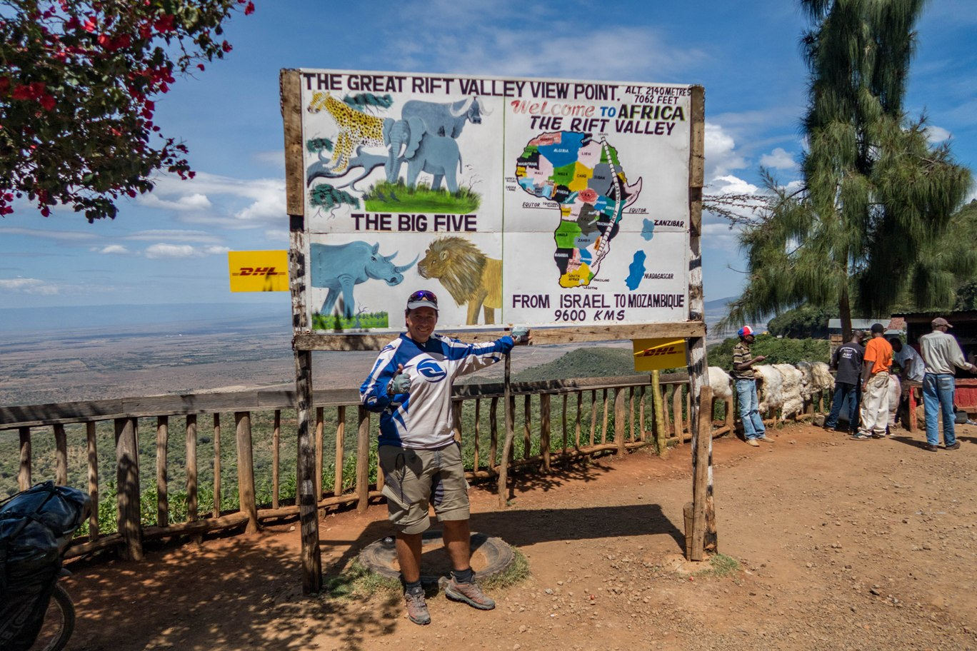 Great Rift Valley on the way to Nairobi cycling.