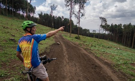 Kilimanjaro downhill riding in Tanzania near Arusha.