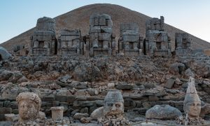 Nemrut Dagi mount Nimrut greek monuments.