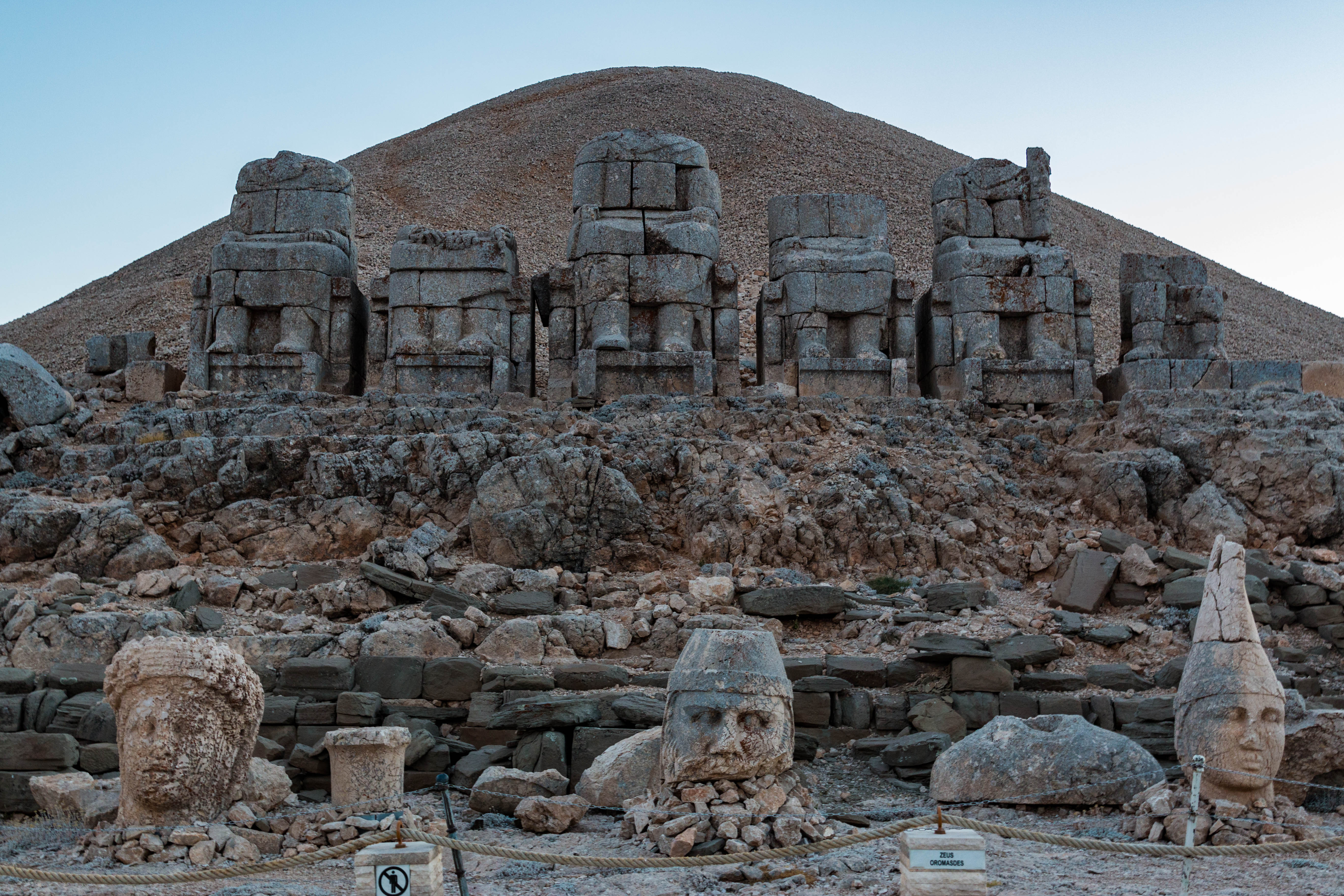 Nemrut Dagi mount Nimrut greek monuments.